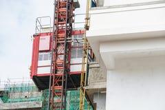 Architecture d'extérieur de gratte-ciel de résidence de bâtiment de logement de chantier de construction photographie stock libre de droits