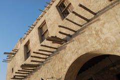 Architecture d'héritage dans Doha Photo libre de droits