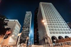 Architecture d'horizon de Hong Kong Photos stock
