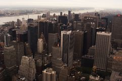 Architecture d'horizon de New York, gratte-ciel images libres de droits