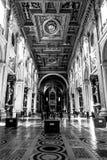 Architecture d'une église de Rome Photo libre de droits
