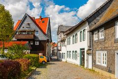 Architecture dans Goslar, Allemagne Images stock