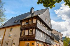Architecture dans Goslar, Allemagne Image libre de droits