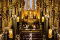 Architecture dans la basilique de Fourviere, Lyon, France Images libres de droits