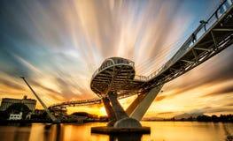 architecture of darul hana bridge stock photo