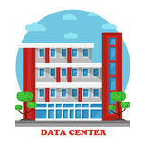Architecture of data center building for storage Stock Photos