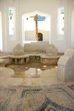 Architecture de bâtiments historiques de Kalithea Rhodos Grèce de station thermale Photo libre de droits