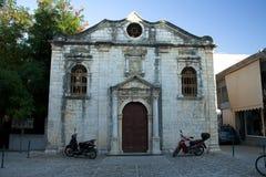 Architecture de bâtiments historiques de Leucade Grèce Images stock