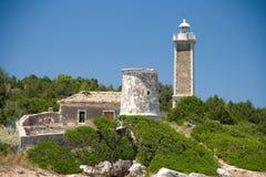 Architecture de bâtiments historiques de nature d'été de Vathy Grèce Photos stock