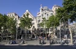 Architecture de Barcelone en Espagne Photo stock