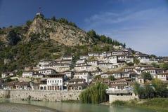 Architecture de Berat Albanie Photos libres de droits