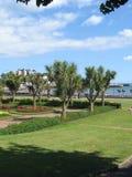 Architecture de bord de la mer de Torquay, Angleterre Photos libres de droits