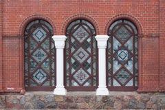 Architecture de brique Photographie stock