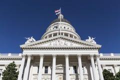 Architecture de capitol d'état de la Californie Photographie stock libre de droits