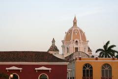 Architecture de Carthagène de Indias. La Colombie Photo stock