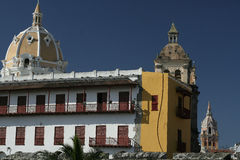 Architecture de Carthagène de Indias. La Colombie Images libres de droits