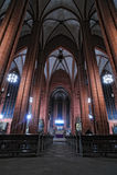 Architecture de cathédrale de rue Bartholomew à Francfort Photos stock