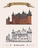 Architecture de château haar de De en Hollandes Image libre de droits
