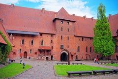 Architecture de château Pomerania de Malbork en Pologne Photos libres de droits