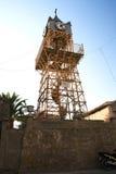 Architecture de ciel bleu de Martini d'église de tour d'horloge de Leucade Grèce historique Image stock