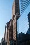 Architecture de contraste, New York Photos libres de droits