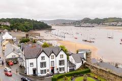 Architecture de Conwy, Pays de Galles, Grande-Bretagne Photo libre de droits