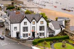 Architecture de Conwy, Pays de Galles, Grande-Bretagne Photos stock
