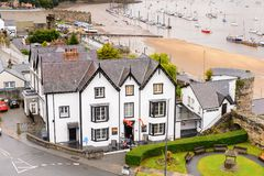Architecture de Conwy, Pays de Galles, Grande-Bretagne Image stock