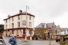 Architecture de Conwy, Pays de Galles, Grande-Bretagne Photographie stock