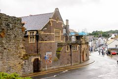 Architecture de Conwy, Pays de Galles, Grande-Bretagne Images libres de droits