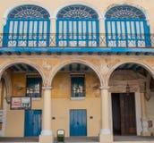Architecture de fenêtre du Cuba construisant 2013 Image libre de droits