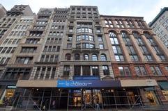 Architecture de fonte sur Broadway, Manhattan, NYC Photo stock