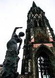 Architecture de l'Allemagne Paysages urbains à Hambourg Voyage autour de l'Europe photo libre de droits