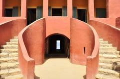 Architecture de la maison des esclaves, Sénégal photographie stock libre de droits