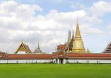Architecture de la Thaïlande de Wat Phra Kaew et de x28 ; Temple de l'émeraude B Image libre de droits