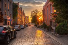 Architecture de la vieille ville d'Elblag, Pologne image stock