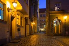 Architecture de la vieille ville de Danzig Photos stock
