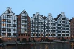 Architecture de la vieille ville Danzig Pologne images stock