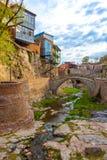 Architecture de la vieille ville de Tbilisi, la Géorgie, dans Abanotubani Photo libre de droits