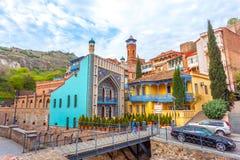 Architecture de la vieille ville de Tbilisi, la Géorgie, dans Abanotubani Images libres de droits