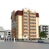 architecture de la vue 3d Photo libre de droits