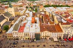 Architecture de Lviv l'ukraine images libres de droits