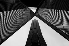 Architecture de Melbourne CBD en noir et blanc photographie stock libre de droits