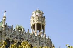 Architecture de modernisme à Barcelone image libre de droits