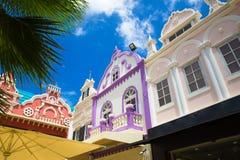 Architecture de Néerlandais d'Aruba Photos stock