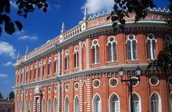 Architecture de parc de Tsaritsyno à Moscou Images libres de droits