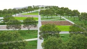 Architecture de paysage, concept de jardin de parc Photographie stock libre de droits
