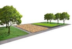 Architecture de paysage, concept de jardin de parc Images stock