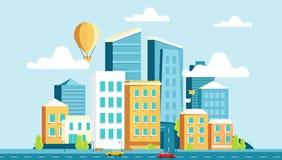 Architecture de paysage de la ville moderne illustration de vecteur