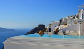 Architecture de piscine de vue de mer photos libres de droits